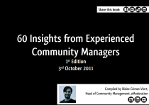 60 Insights from Experienced Community Managers by Blaise Grimes-Viort
